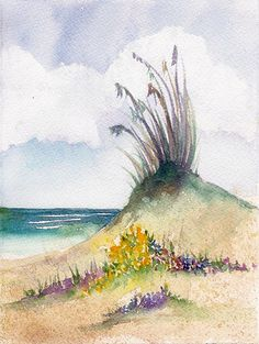 https://flic.kr/p/5x7Z8G | Seascape | Watercolor and on Paper Dimensions:  5.5 x 7.5 (ready for a 5x7 mat)