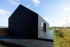 nachhaltiges  Haus-moderne Architektur-Fassade