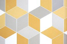 Urban Edge Ceramics   White, Yellow, Grey Tex Tiles. Pictures from Trixie and Johnno's renovated *TILES IN STOCK apartment.http://www.urbanedgeceramics.com.au/component/igallery/products/mutina?Itemid=108