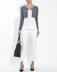 Woman pure cashmere shrug sweater