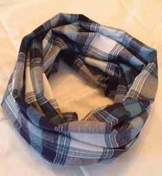 Cozy plaid infinity scarf made from flannel fabric for extra warmth with your style! Comes in toddler/kid sizes as well for a mommy & me set! #daisydesigned $15