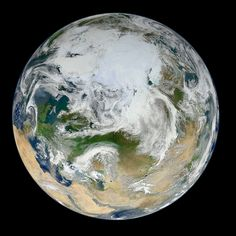 A view of the Earth's arctic as seen by NASA's NPP Suomi observation satellite. On July 3, 2014, the Earth will be at aphelion, its farthest point from the sun for 2014.