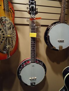 Are you a guitar player that wants to play the banjo? This Fender Rustler 6-String Banjo, a recent arrival at Kincaid's, sounds just like a banjo but is designed with 6 strings so that you can play it like a guitar. Come in and check it out!