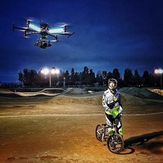 Attack of the dragonflies! [most of our crew has been in LA this week shooting top athletes for #redbull. Pictured here is Olympic silver medalist and seriously nice guy @mday365. C4 director @ansonfogel photo #Octocopter #REDDRAGON]