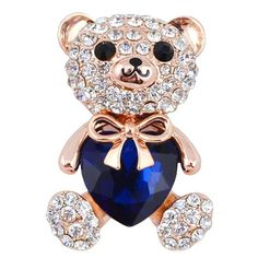 GET $50 NOW | Join RoseGal: Get YOUR $50 NOW!http://www.rosegal.com/brooch/cute-rhinestoned-faux-crystal-bear-266710.html?seid=6361886rg266710