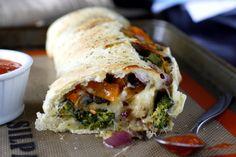 Roasted Vegetable Stromboli | www.whatmegansmaking.com #SargentoCheese @Sarah King Cheese