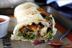 Roasted Vegetable Stromboli | www.whatmegansmaking.com #SargentoCheese @Sarah King Cheese