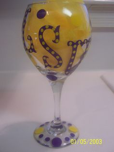 lsu wine glass