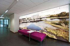Een licht wall waarbij je zelf een afbeelding kan kiezen