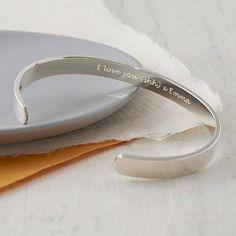 Secret Message Silver Bracelet from notonthehighstreet.com