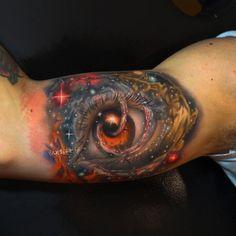 Galaxy Eye Tattoo http://tattooideas247.com/galaxy-eye/