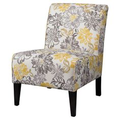 A stylish addition to your living room seating group, this hardwood-framed accent chair showcases floral upholstery for vibrant style.