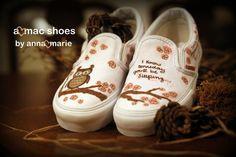 Custom Painted Shoes. $55.00, via Etsy.