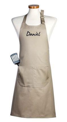 Delantal de calidad superior (100% algodón), y además, pesonalizable con tu nombre #diadelpadre Pasta Delivery, Cute Aprons, Meraki, Barista, Textiles, Unisex, Sewing, Womens Fashion, Pattern