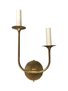Veronique French Sconce in Antique Brass on Chairish.com