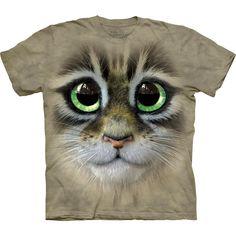 Big #Eyes #Kitten Face #Cat #Gato #Gatito #Camiseta #Rock #Fashion #EmpSpain