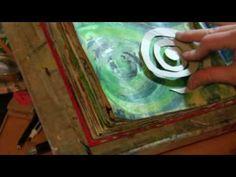 Art Journaling Techniques DAY 29 pt 2 ♥ Milliande Art Journal Prompt ~Mixed Media Spirals
