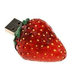 Less tasty but nevertheless just as popular are custom USB flash drives and just to illustrate that they can be supplied in any shape you want here's an example Strawberry Baby, Strawberry Kitchen, Strawberry Fields Forever, Strawberry Shortcake, Things To Buy, Things I Want, Stuff To Buy, Strawberry Decorations, Foto Jimin