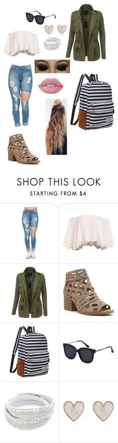 """back to school"" by mlucasxo-1 ❤ liked on Polyvore featuring LE3NO, New Look and Lime Crime"
