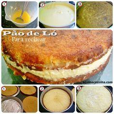 Esta receita de Pão de Ló é muito boa para fazer bolo recheado. Dá para você partir para rechear e ela não se quebra.