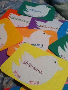 Twitter Door Tags courtesy of Lauren (Pitt-Greensburg CA) #residencelife #reslife