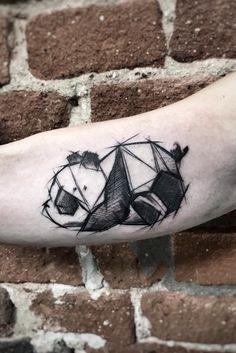 Inez Janiak panda tattoo