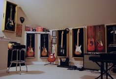 Music room. Shadowbox for instruments?