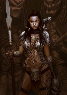 African Female Warriors Art | She Predator by Wulfsbane on deviantART