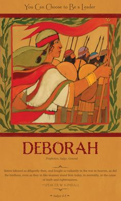"Deborah was a prophetess and powerful judge, and people in Israel traveled long distances to hear her wise counsel. Deborah wanted to free her people, but they had lost their faith in God's power to deliver them from bondage.   Deborah had a choice to make. She could watch her people suffer, or she could teach them to trust in God...  from ""Girls Who Chose God"" by McArthur Krishna and Bethany Brady Spalding"