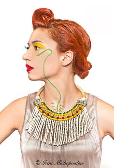 Pop Africa Big  statement necklace by irinimichopoulou on Etsy, $57.50