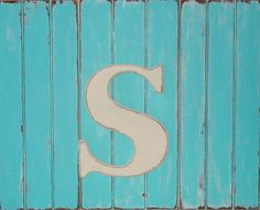 large wooden letter s or any letter distressed 18 inch wood