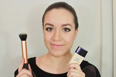 Rutina de base de maquillaje (piel grasa) - tutorial. Estee Lauder Invisible Fluid Makeup / Foundation routine