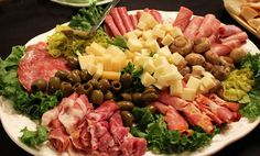 """Giacomo's Antipasto  (Party Platter)  """"The Italian translation for antipasto is 'before the meal' and was traditionally made up of salty olives, deli meats, marinated vegetables and cheeses and offered to diners to stimulate their appetite before the main meal... Serves 20 as a starter (Scale as required for numbers)"""" #GlutenFreeChef"""