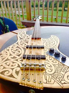 laser etched bass body