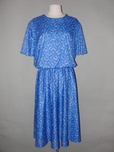 Vintage Clothing Stores, Vintage Outfits, Shoulder Dress, Amazing, Blue, Clothes, Dresses, Fashion, Outfits