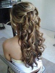 Bridal Hair Hair Color Styles for Short simple ponytail Curly Bridal Hair, Simple Bridal Hairstyle, Popular Hairstyles, Pretty Hairstyles, Wedding Hairstyles, Style Hairstyle, Bridesmaid Hairstyles, Princess Hairstyles, Wavy Hairstyles