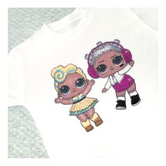 S W I P E  to see more!  The two new surprise dolls tees are now LIVE on the website (link in bio)  Available in sizes 2-3y to 11-12y  Ships worldwide  One week turn around time for dispatch (shipping times apply)