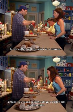 Gilmore girls, always funny:) Luke And Lorelai, Lorelai Gilmore, Best Tv Shows, Best Shows Ever, Favorite Tv Shows, Favorite Things, Tv Show Quotes, Movie Quotes, Cool Stuff