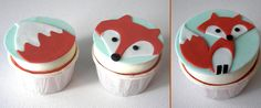 Fox cupcakes for a baby boy shower.   Love them!