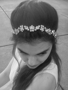 Bridal Rhinestone Headband, Crystal Headband, Tiara - Beaded Headpiece, Crystal Headpiece, Wedding Hair Accessory, Wedding Hairband, Crown