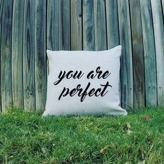 You are perfect  #barrebieshoppillows #100quotepillows #barrebieshop #sayitlikeyoumeanit #loveyourself #whereilaymyhead #barrebieshop
