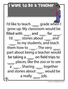 Mad Libs Worksheets Comprehension Lesson Plans Kids Mad Libs