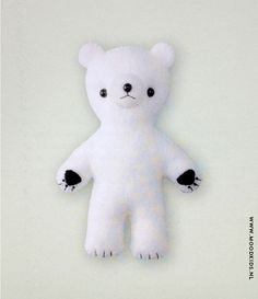 DIY Baby Bear by moodkids #DIY #Toys #Stuffie #Bear