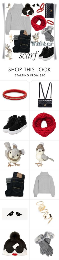 """""""OOTD with Scarf"""" by petalp ❤ liked on Polyvore featuring BillyTheTree, Chanel, WithChic, Grasslands Road, Hollister Co., Iris & Ink, BP., Alice + Olivia and scarf"""