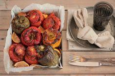 Tomates farcies au Boulgour & Poivrons farcis au Riz à la Turque