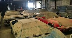 Cars we like - DESERTED GARAGE FILLED WITH LAMBORGHINIS, FERRARI, PORSCHE, '67 SHELBY GT500 AND MORE !