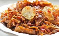 With yummy crunchy bits of ikan bilis, tempe slices and crisp potatoes, this tasty sambal works well with rice or even as snacks when you get the attack of the munchies. Malaysian Cuisine, Malaysian Food, Asian Appetizers, Appetizer Recipes, Anchovy Recipes, Sambal Recipe, Food Network Recipes, Cooking Recipes, Malay Food