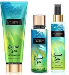 Victoria's Secret Fantasies Summer 2016 Collection | Victoria's Secret Coconut Sea Collection -  Notes: Coconut water and Hawaiian pink sea salt