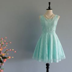 Mint Green Dress Green Party Dress Backless Dress Green Lace Dress... ($22) ❤ liked on Polyvore featuring dresses, silver, women's clothing, lace prom dresses, mint green prom dress, green prom dresses, green cocktail dress and party dresses