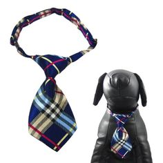 """Alfie Couture Designer Pet Accessory - Qun Formal Dog Tie and Adjustable Collar - Color: Blue Plaid, Neck Size: 12""""-16"""" for Dogs and Cats - http://www.thepuppy.org/alfie-couture-designer-pet-accessory-qun-formal-dog-tie-and-adjustable-collar-color-blue-plaid-neck-size-12-16-for-dogs-and-cats/"""